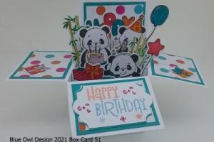 Box Card 51 Pandas