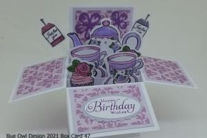 Box Card 47 Tea Party