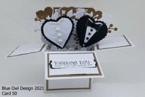 Box Card 50 Wedding