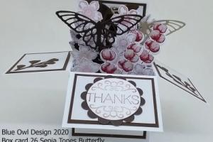 Box Card 26 Sepia Tones Butterfly