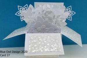 Box Card 27 All White