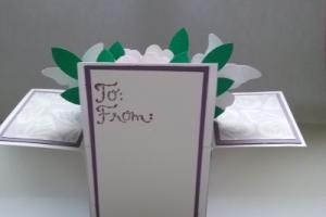 box card folds flat back panel for message
