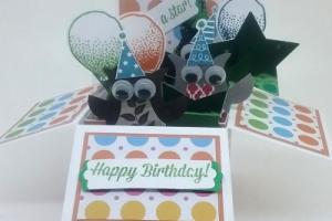 box card 11 owls and stars