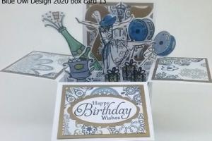 box card 13 Milestone birthday example
