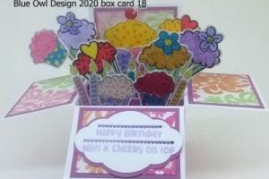 box card 18 cupcakes and candles
