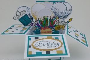 Box Card 31 Cake and balloons